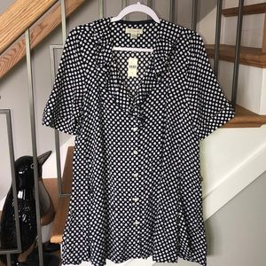 Anthropology 11 1 TYLHO Pattern Tunic Top M NWT